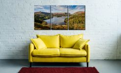 Early Autumn Grasmere - 3 Panel Canvas on Wall