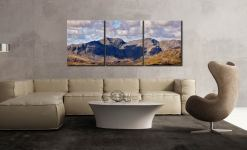 Sca Fell From Coniston Fell - 3 Panel Canvas on Wall