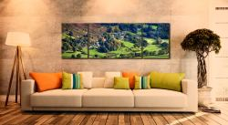 Chapel Stile in Langdale - 3 Panel Canvas on Wall