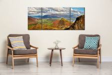 Cat Bells form Maiden Moor - 3 Panel Wide Mid Canvas on Wall