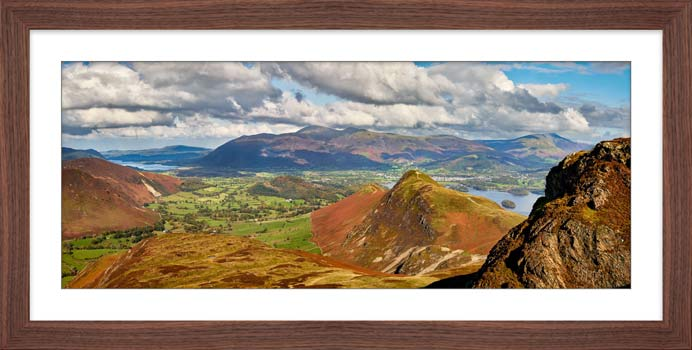 Cat Bells form Maiden Moor - Framed Print with Mount