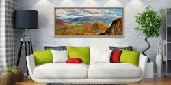Cat Bells and the Newlands Valley viewed from the flanks of Maiden Moor - Oak floater frame with acrylic glazing on Wall