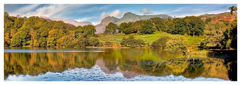 Loughrigg Tarn in Late Summer - Lake District Print