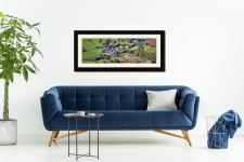 Buttermere Village - Framed Print with Mount on Wall