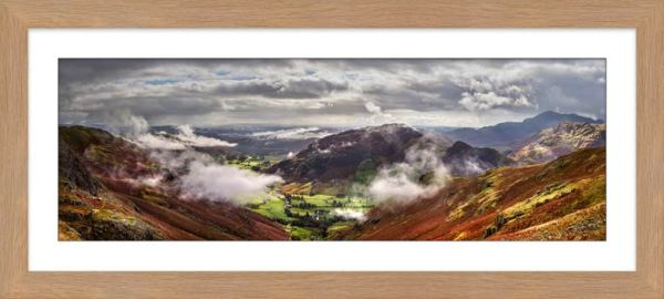 Great Langdale and Lingmoor Fell - Framed Print with Mount