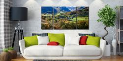 Trees of Borrowdale - 3 Panel Wide Centre Canvas on Wall