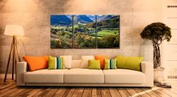Trees of Borrowdale - 3 Panel Canvas on Wall