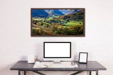 Trees of Borrowdale - Walnut floater frame with acrylic glazing on Wall