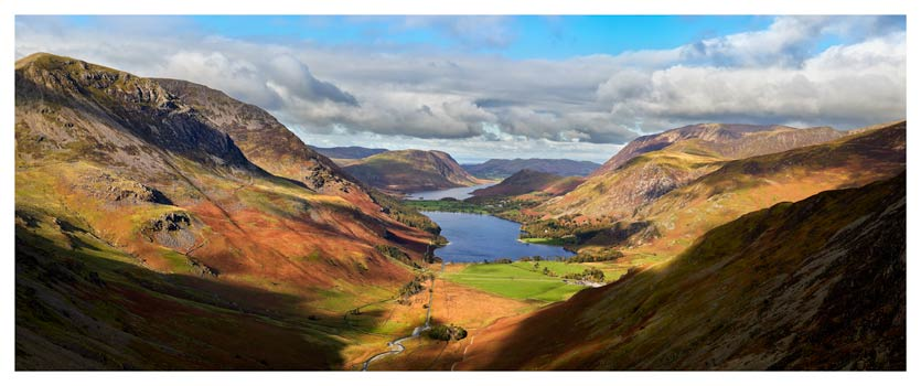 Sunshine on the Buttermere Valley - Lake District Print