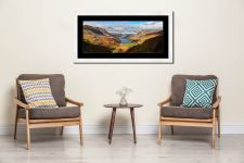 Sunshine on the Buttermere Valley - Framed Print with Mount on Wall