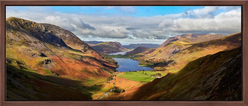 Sunshine on the Buttermere Valley - Modern Print