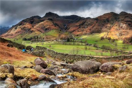 Great Langdale from Cumbrian Way - Lake District Canvas