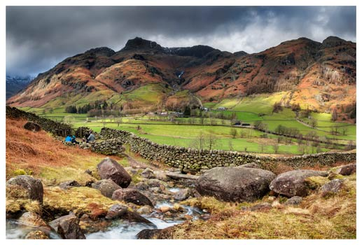 Great Langdale from Cumbrian Way - Lake District Print