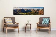 Beautiful Borrowdale Panorama - 3 Panel Wide Centre Canvas on Wall