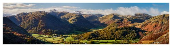 Beautiful Borrowdale Panorama - Lake District Print