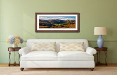 Beautiful Borrowdale - Framed Print with Mount on Wall