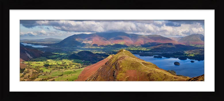 Cat Bells Panorama - Framed Print