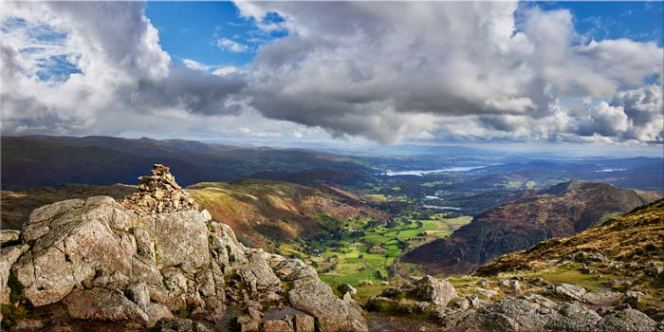 Harrison Stickle Summit View - Canvas Print