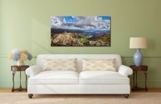 Harrison Stickle Summit View - Print Aluminium Backing With Acrylic Glazing on Wall