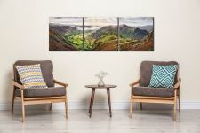 Glorious Great Langdale - 3 Panel Canvas on Wall