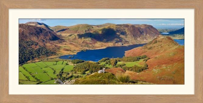 Contemplating Crummock Water - Framed Print