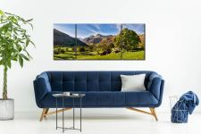 Summer in Great Langdale - 3 Panel Wide Mid Canvas on Wall