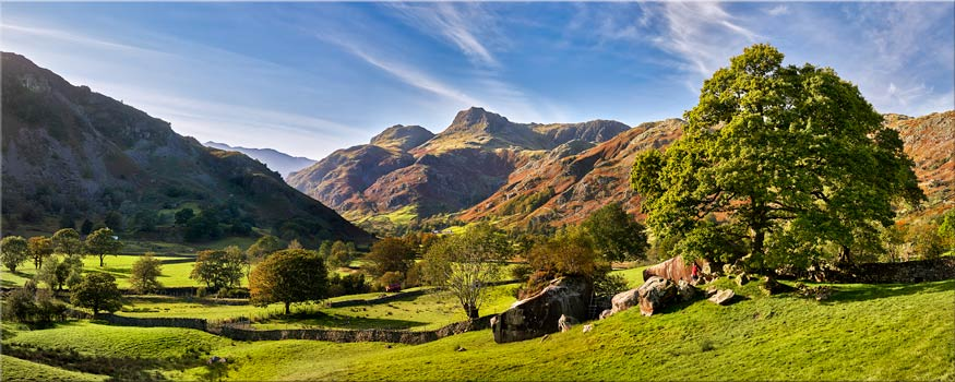 Summer in Great Langdale - Canvas Print