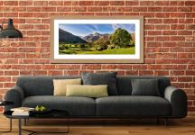 Summer in Great Langdale - Framed Print with Mount on Wall