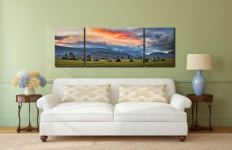 Dawn Skies Over Castlerigg - 3 Panel Wide Mid Canvas on Wall