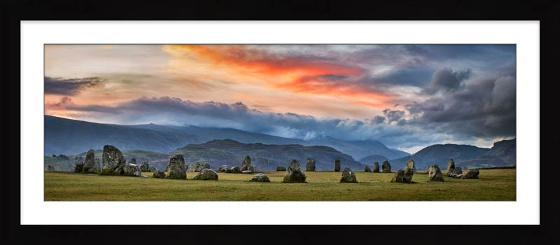 Epic Skies Over Castlerigg - Framed Print