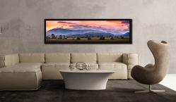 Castlerigg Sunrise - Black oak floater frame with acrylic glazing on Wall