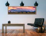 Castlerigg Sunrise - Oak floater frame with acrylic glazing on Wall