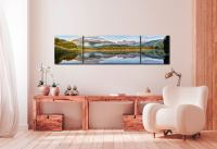 Elterwater Tranquility - 3 Panel Wide Centre Canvas on Wall