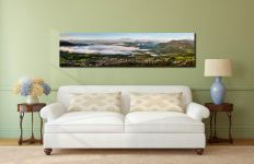 Misty Summer Morning Over Derwent Water - Lake District Canvas on Wall