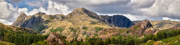 Langdale Pikes and Pavey Ark - Canvas Print
