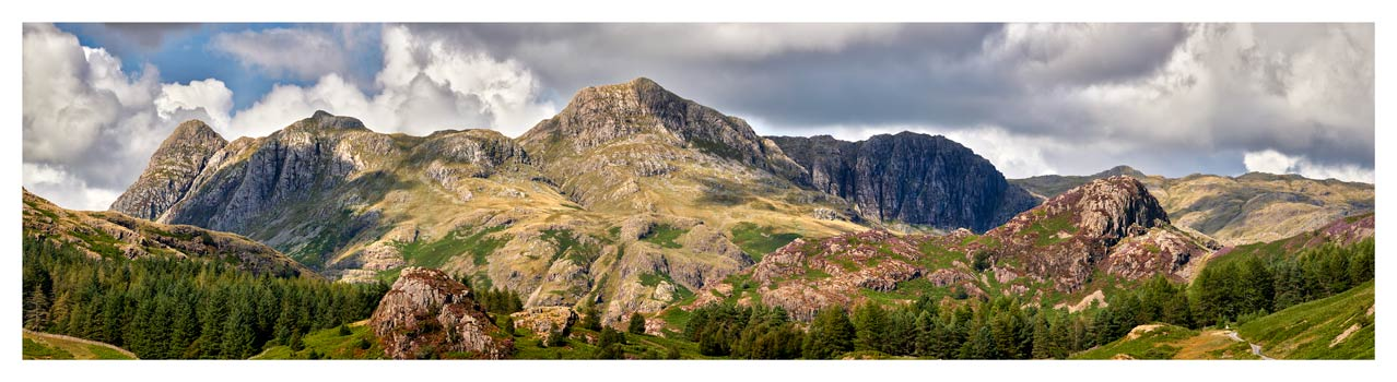 Langdale Pikes and Pavey Ark - Lake District Print