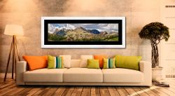 Langdale Pikes and Pavey Ark - Framed Print with Mount on Wall