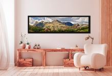 Langdale Pikes and Pavey Ark - Black oak floater frame with acrylic glazing on Wall