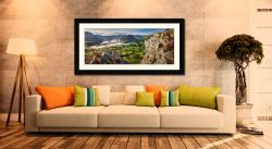 Heather Rocks Crummock - Framed Print with Mount on Wall