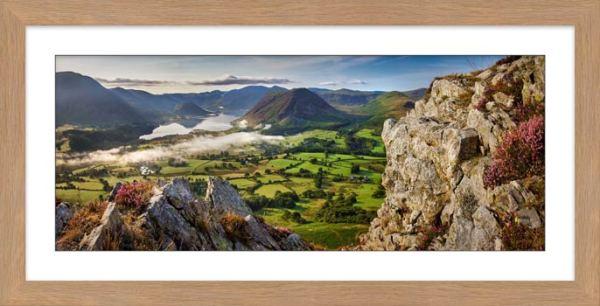 Heather Rocks Crummock - Framed Print with Mount