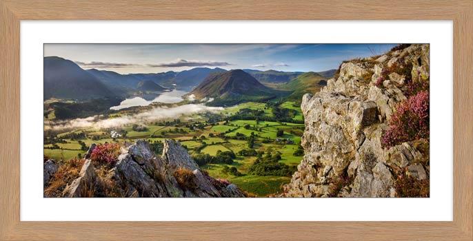 Heather Rocks Crummock - Framed Print