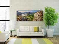 Blea Tarn Summer Panorama - Print Aluminium Backing With Acrylic Glazing on Wall