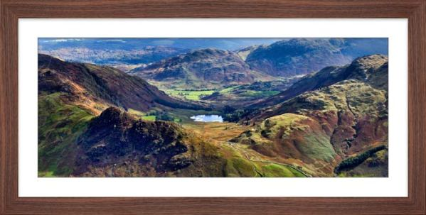 Blea Tarn from Langdale Pikes - Framed Print with Mount