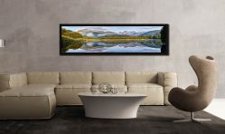 Elterwater Tranquility - Black oak floater frame with acrylic glazing on Wall
