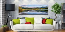 A perfectly calm summer's morning at Elterwater in Langdale - Print Aluminium Backing With Acrylic Glazing on Wall
