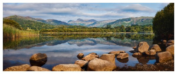 Elterwater Summer Reflections - Lake District Print