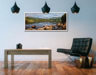 Elterwater Summer Reflections - White Maple floater frame with acrylic glazing on Wall