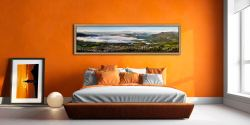 Misty Summer Morning Over Derwent Water - Oak floater frame with acrylic glazing on Wall