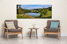Summer Greens of Loughrigg Tarn - Canvas Print on Wall