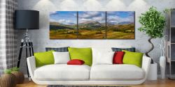 Sca Fell Range from Birker Fell - 3 Panel Canvas on Wall